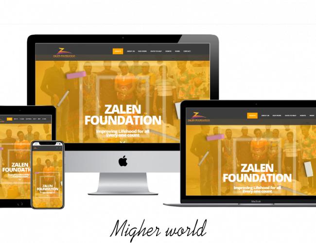 Zalen Foundation - Migher World Portfolio- Migher World Portfolio Web Design, Digital Marketing, E-Commerce, Branding, Creative Design, Website Maintenance., Training Services, Migher World