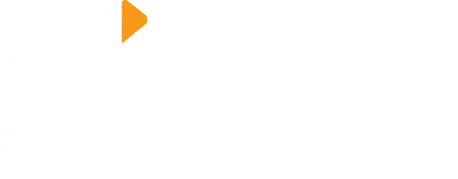 Migher World Logo Inverse Web Design, Digital Marketing, E-Commerce, Branding, Creative Design, Website Maintenance., Training Services, Migher World