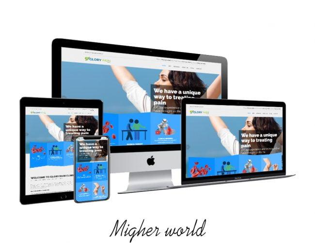 glory pain - Migher World Portfolio- Migher World Portfolio Web Design, Digital Marketing, E-Commerce, Branding, Creative Design, Website Maintenance., Training Services, Migher World